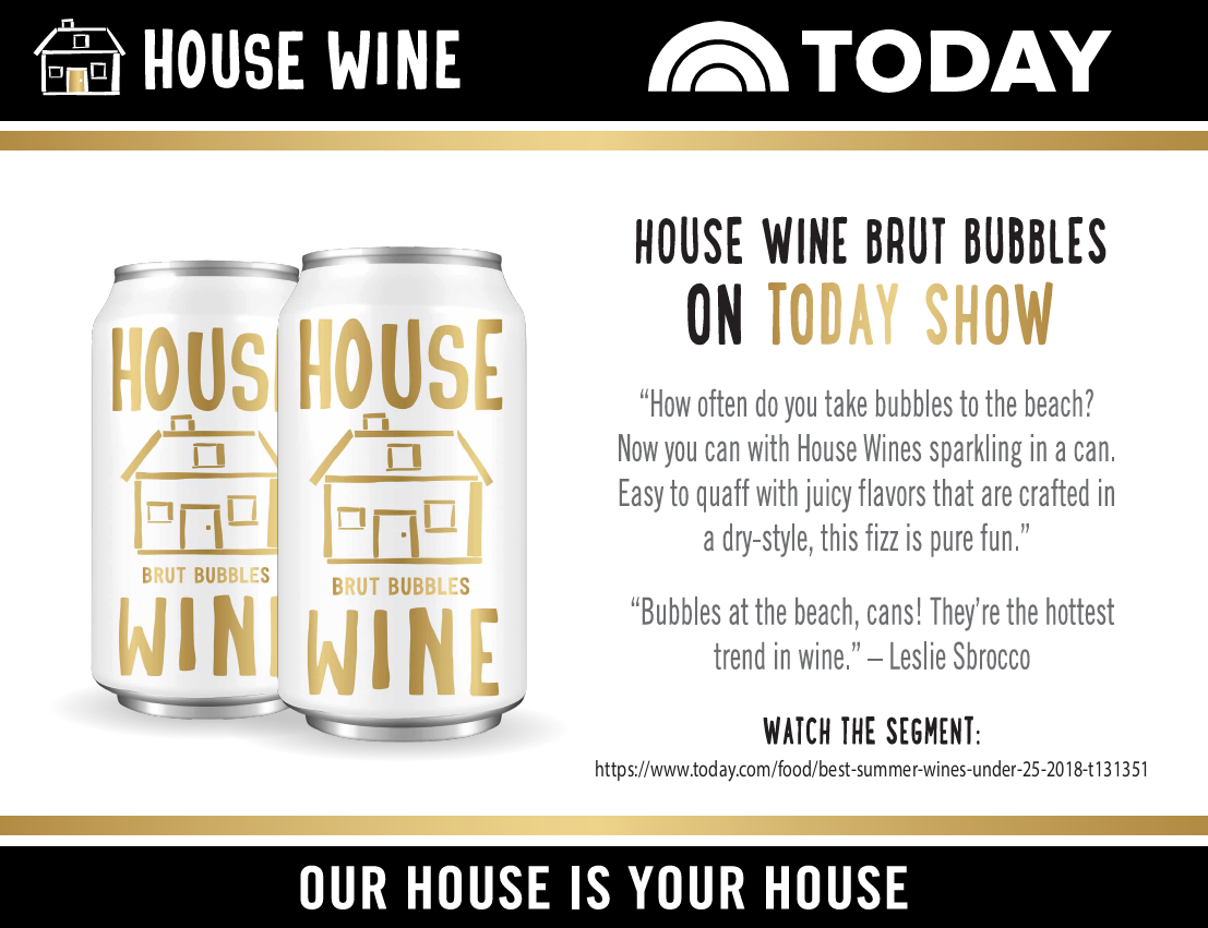 House Wine Brut Bubbles Today Show review
