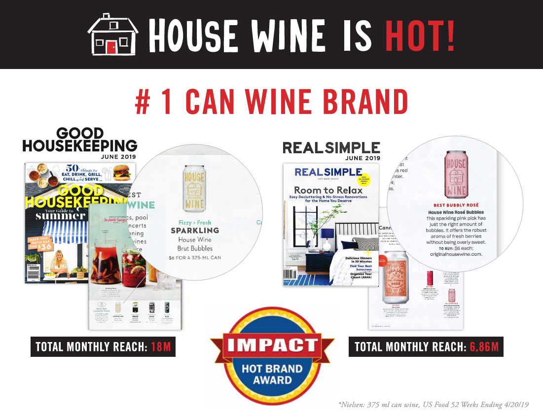 House Wine is hot! Number one can wine brand
