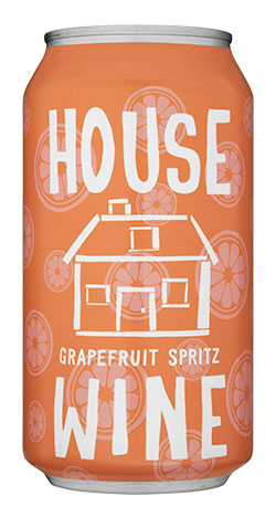 house wine grapefruit spritz can