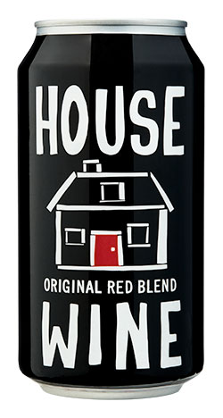 house wine original red blend can