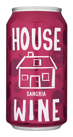 House wine sangria can