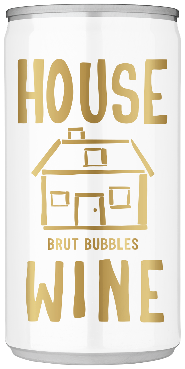 House Wine Brut Bubbles mini can