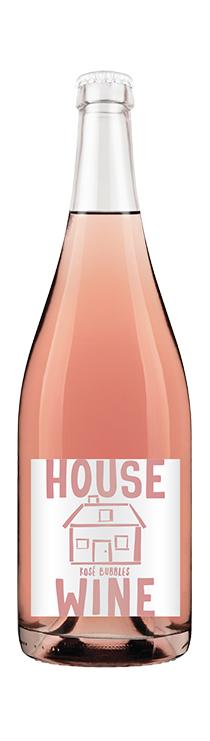 House Wine Rose Bubbles Bottle