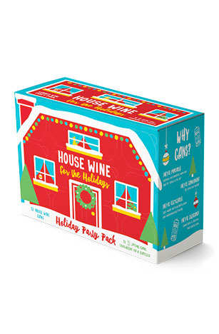 House Wine for the Holidays 12 pack of wine cans