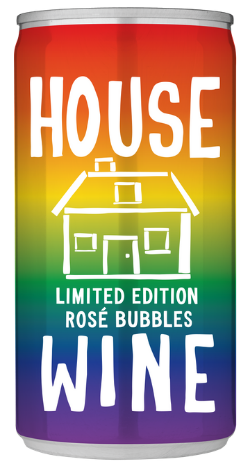 House Wine Limited Edition Rainbow Rose Pride Can
