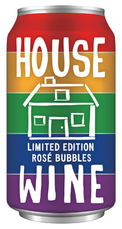 House Wine Rainbow Rose Bubbles Pride Canned Wine