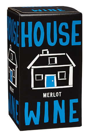 House wine Merlot boxed wine