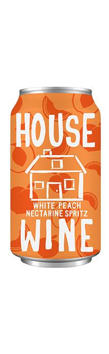 House Wine White Peach Nectarine spritz can