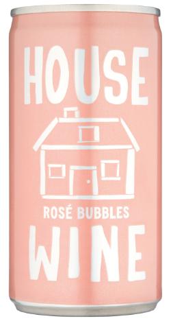 House Wine Rose Bubbles Mini Can