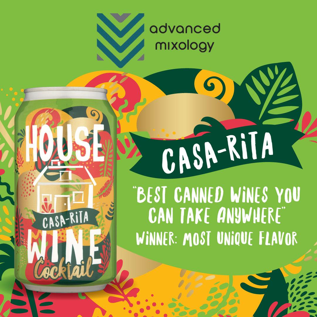 House Wine Casa Rita featured in Advanced Mixology